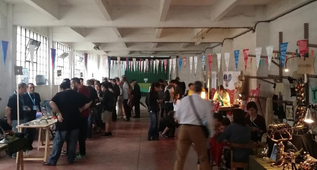Zona expositores de Maker Faire Bilbao 2015