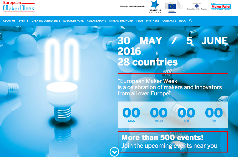European Maker Week 2016