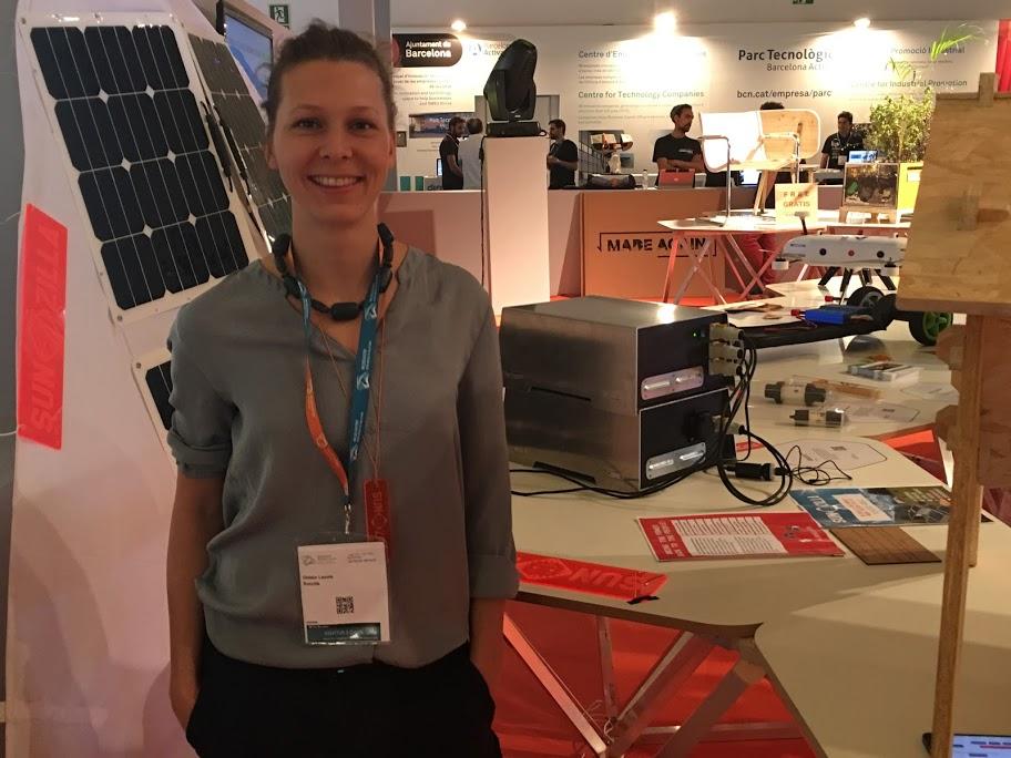 Leonie nos explica su proyecto Sunzilla