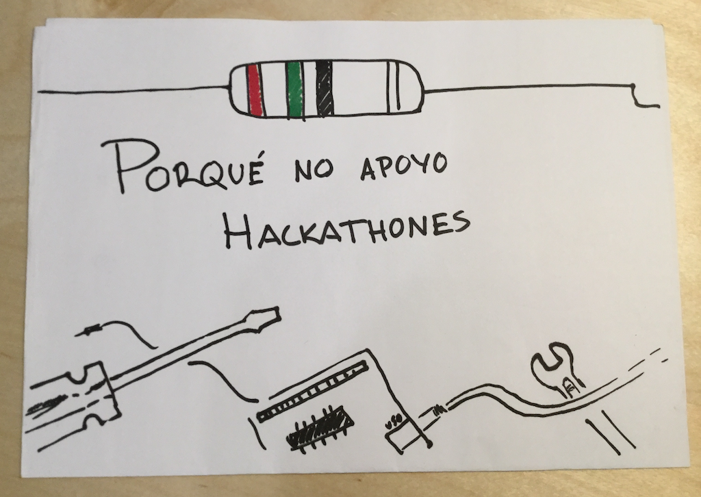 Porqué no apoyo hackathones