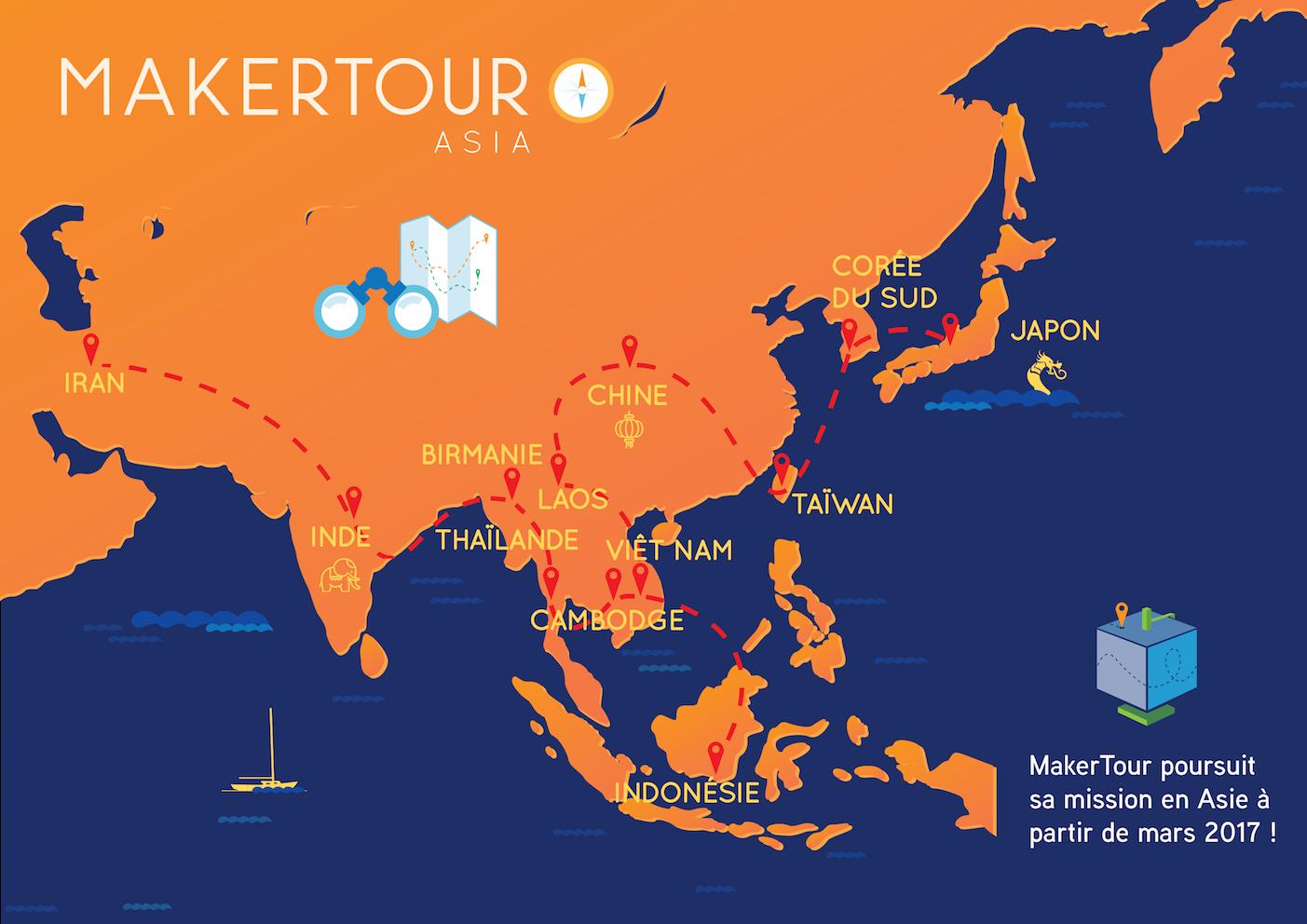 Futura Ruta para Maker Tour Asia 2017