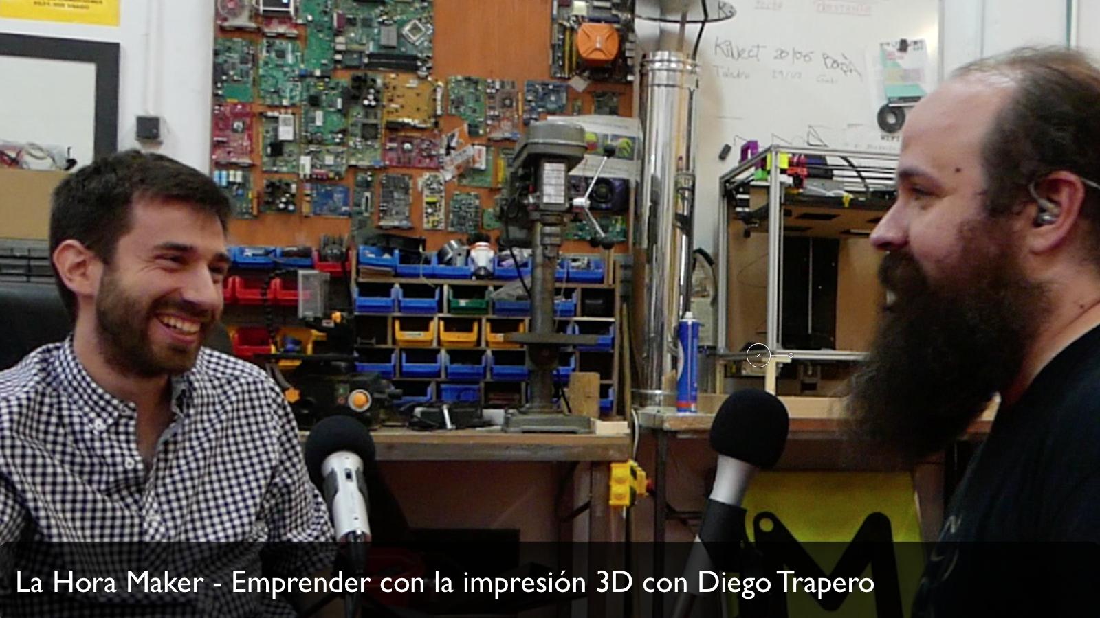 Entrevista con Diego Trapero sobre emprendimiento e impresion 3D