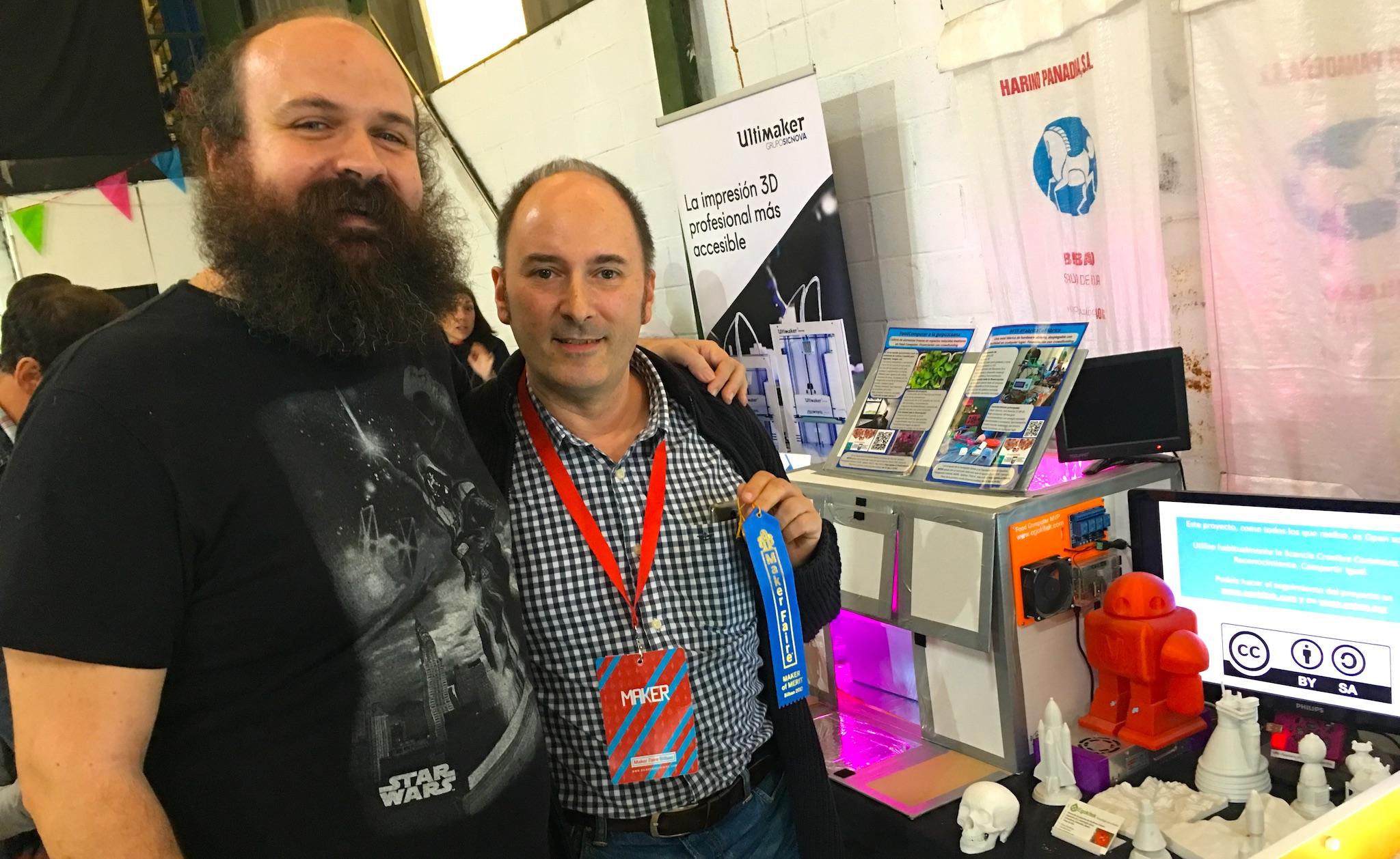 Victor Barahona y su Food Computer premiadas en Maker Faire Bilbao 2017